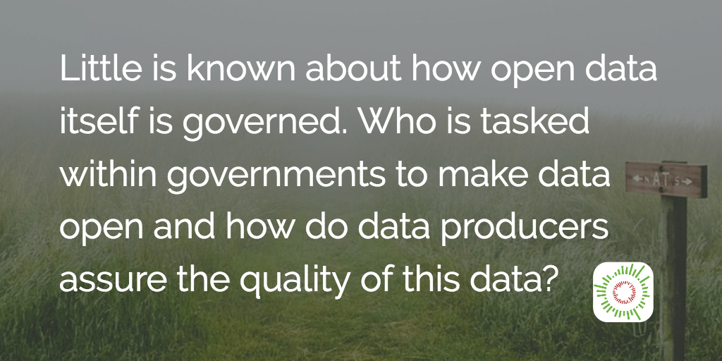 Mapping open data governance models: Who makes decisions ...